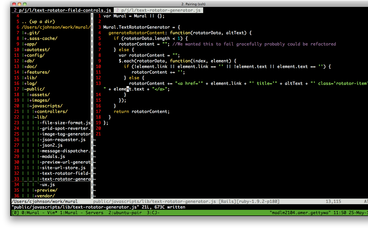 Pair Programming with Tmux – Thoughts by CJ